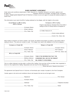bill of lading form fedex Templates - Fillable & Printable Samples ...