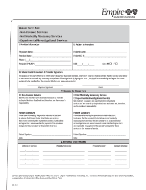 Blue Cross Blue Shield International Medical Claim Form Templates ...