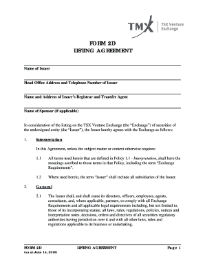 Submit What Is Included In A Listing Agreement Pdf Forms And