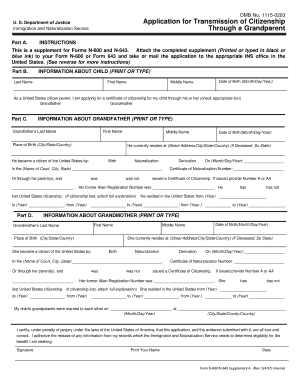 Form N-600/N-643, Supplement A, Application for ... - ILW.com