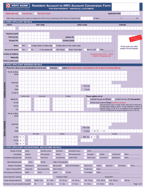 Exple For Hdfc Bank Opening Form Fillng - Fill Online, Printable