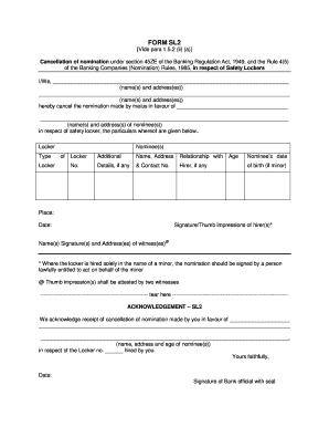 Fillable Online FORM SL2 - HDFC Bank Fax Email Print - PDFfiller
