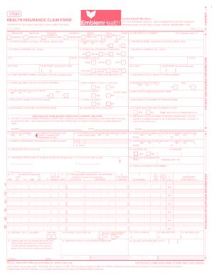 Emblem Health Form 1500 - Fill Online, Printable, Fillable ...