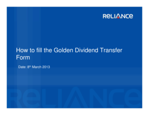 Microsoft PowerPoint - Golden Dividend Transfer Form Compatibility Mode