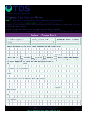 Tds Dispute Application Form Online - Fill Online, Printable ...