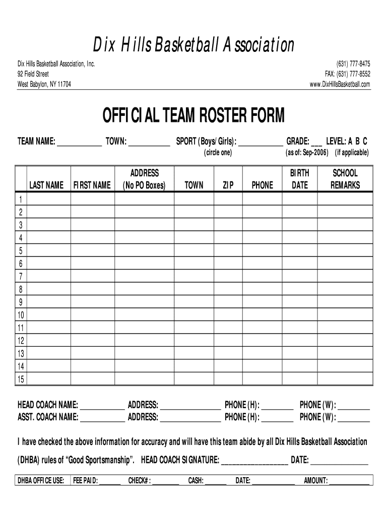 Basketball Depth Chart Template - Fill Online, Printable, Fillable Throughout Scouting Report Basketball Template