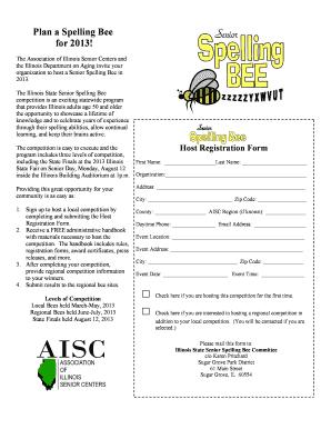Spelling Bee Registration Form
