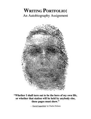 writing portfolio an autobiography assignment