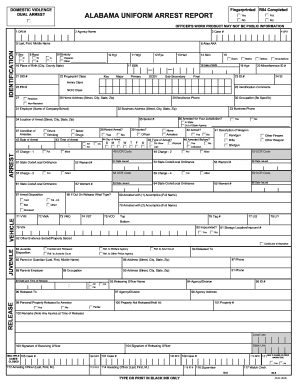 Arrest forms fill online printable fillable blank pdffiller alabama jail release form maxwellsz
