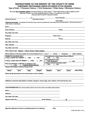 2014 2018 form ca wv 110 fill online printable fillable blank restraining order pdf form thecheapjerseys Images