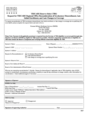 Trs Reconsideration Request Form - Fill Online, Printable ...