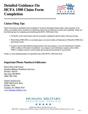 Humana Medical Claim Form Templates - Fillable & Printable Samples ...