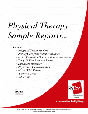 physical therapy notes sample - Edit, Fill, Print & Download