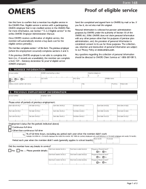 Proof of income form templates fillable printable samples for form 168 proof of eligible service form omers altavistaventures Image collections