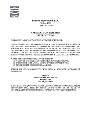 state of kansas affidavit of heirship form