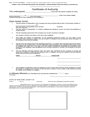 Llc Resolution Signature Authority Fill Out Online Forms Templates - Llc document templates