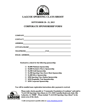 Printable sports sponsorship proposal template doc - Edit, Fill Out