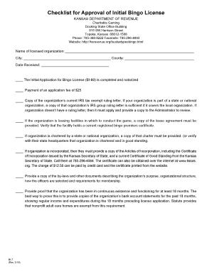 Editable software license agreement checklist fill out best software license agreement checklist bi 7 checklist for approval of initial bingo license rev 2 16 bi platinumwayz