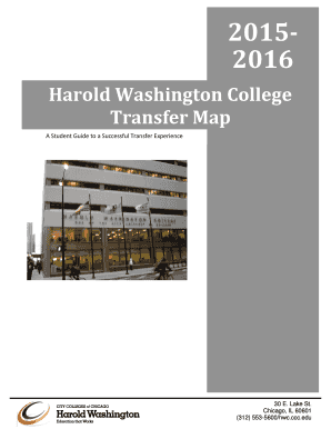 City Colleges Of Chicago Map.Fillable Online Ccc Harold Washington Transfer Map City Colleges
