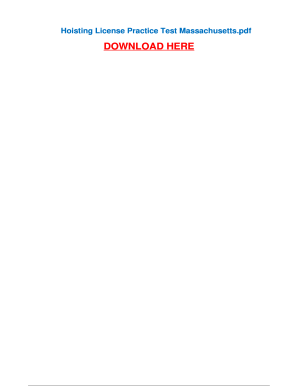 fillable online hoisting license practice test massachusetts fax rh pdffiller com massachusetts 4g hoisting license study guide mass hoisting license study book