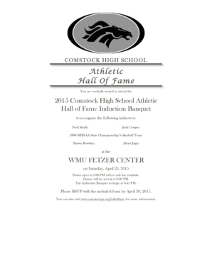 Athletic Hall Of Fame - Comstock Public Schools - comstockps