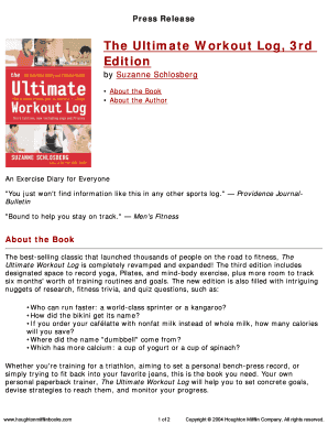 the ultimate workout log 3rd fill online printable fillable