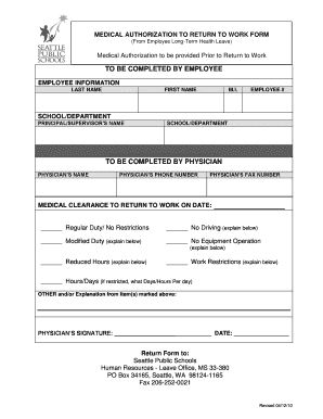 MEDICAL CLEARANCE FORM A0012610DOC2 A0012610DOC2