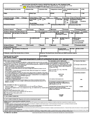 Printable army pov inspection fill out download top for Motor vehicle inspection form