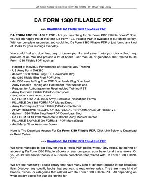 Fillable Online jansbooks DA FORM 1380 FILLABLE. DA FORM 1380 ...