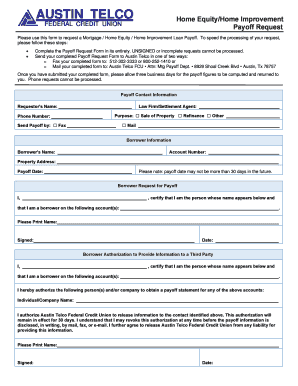 mortgage payoff statement template download