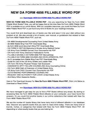 Fillable Online jansbooks NEW DA FORM 4856 FILLABLE WORD PDF ...