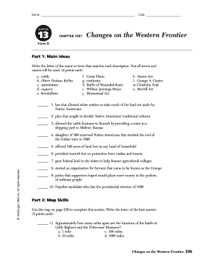 Authorization letter sample to act on behalf forms and templates name date chapter 13 changes on the western frontier chapter test form b part 1 altavistaventures Image collections