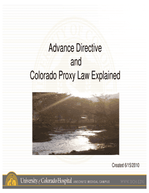 Colorado Proxy Law Explained