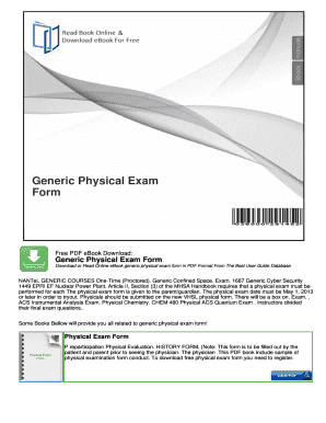 generic physical exam form
