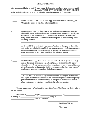 Editable notice of pay rent or quit fill out best business forms bproofb of bserviceb i served a three day notice to pay rent or thecheapjerseys Choice Image