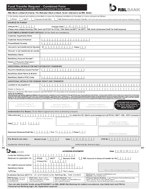 Rbl Rtgs Form Fill Online Printable Fillable Blank Pdffiller