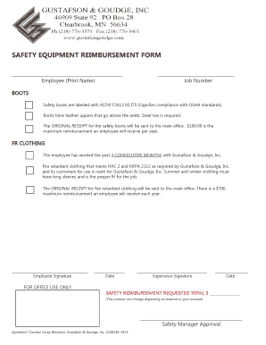employee reimbursement forms