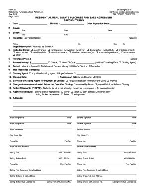 BFormb 21 - Team Washington Real Estate Fill Online, Printable ...