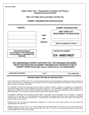 1981 Form NY DTF ST-119.1 Fill Online, Printable, Fillable ...