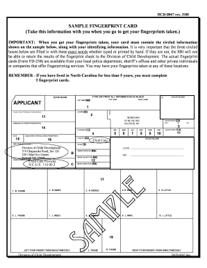 photo relating to Printable Fingerprint Card titled Dcd-0047pdf Pattern FINGERPRINT CARD Fill On-line, Printable