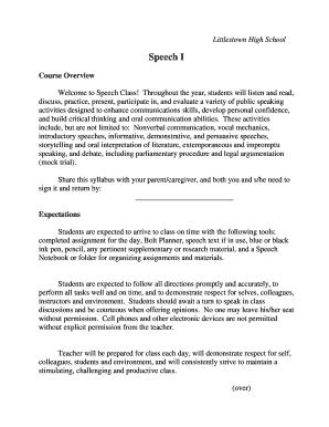 Fillable school welcome speech - Edit, Print & Download Form
