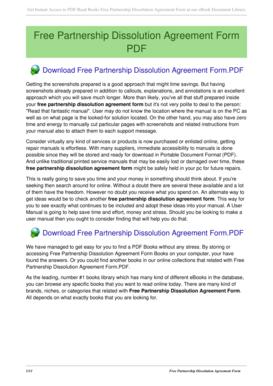 Fillable Online Malherz Free Partnership Dissolution