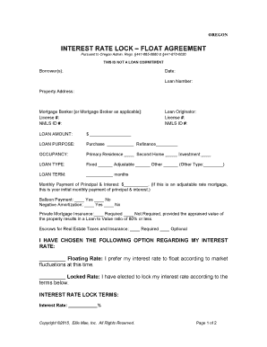 Fillable online or eng interest rate lock float agreement fax fill online malvernweather Choice Image
