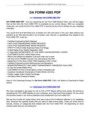 Fillable Online jansbooks DA FORM 4283. DA FORM 4283 Fax Email ...