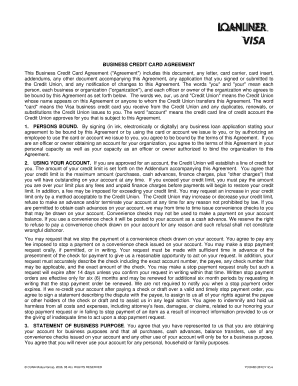 YCOAB0.doc Business Credit Card Agreement This Business Credit Card  Agreement (