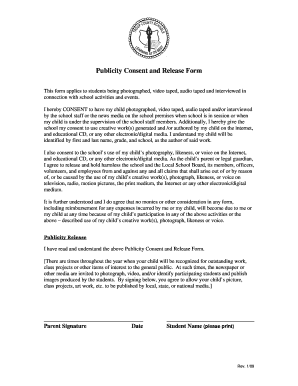 Publicity Consent And Release Form   Trouporg