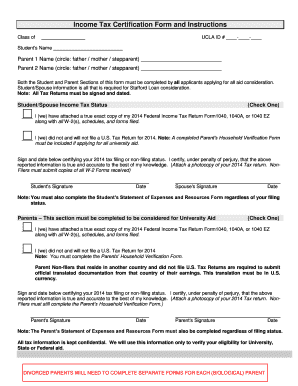 Fillable Online dentistry ucla Income TaxCert Form - UCLA
