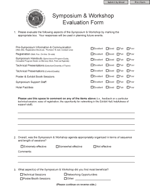 Symposium Workshop Evaluation Form - SERDP ESTCP