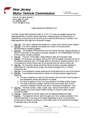 Nj lease agreement pdf new jersey residential lease for Motor vehicle in trenton new jersey