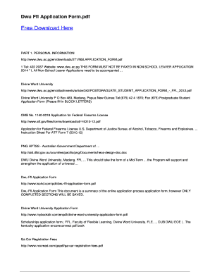 Fillable Online Dwu Ffl Application Form - pdfsdocuments2com Fax ...